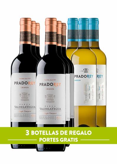 Pack Pradorey: Valdelayegua 2016 (x6) + Verdejo 2018 (x3) offertes