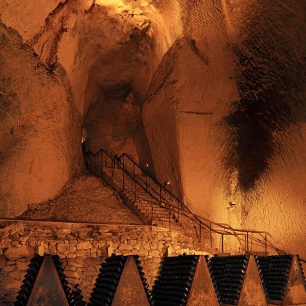Las Crayères, minas subterráneas de piedra caliza