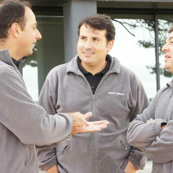 Marc, Rafa y Pablo