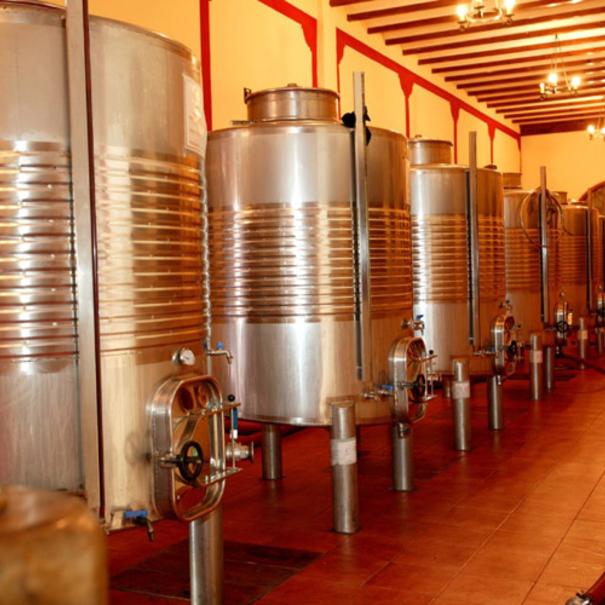 Depósitos donde se realiza la fermentación